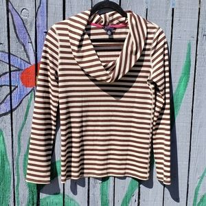 Tommy Hilfiger Waffle Knit Cowlneck Top Small